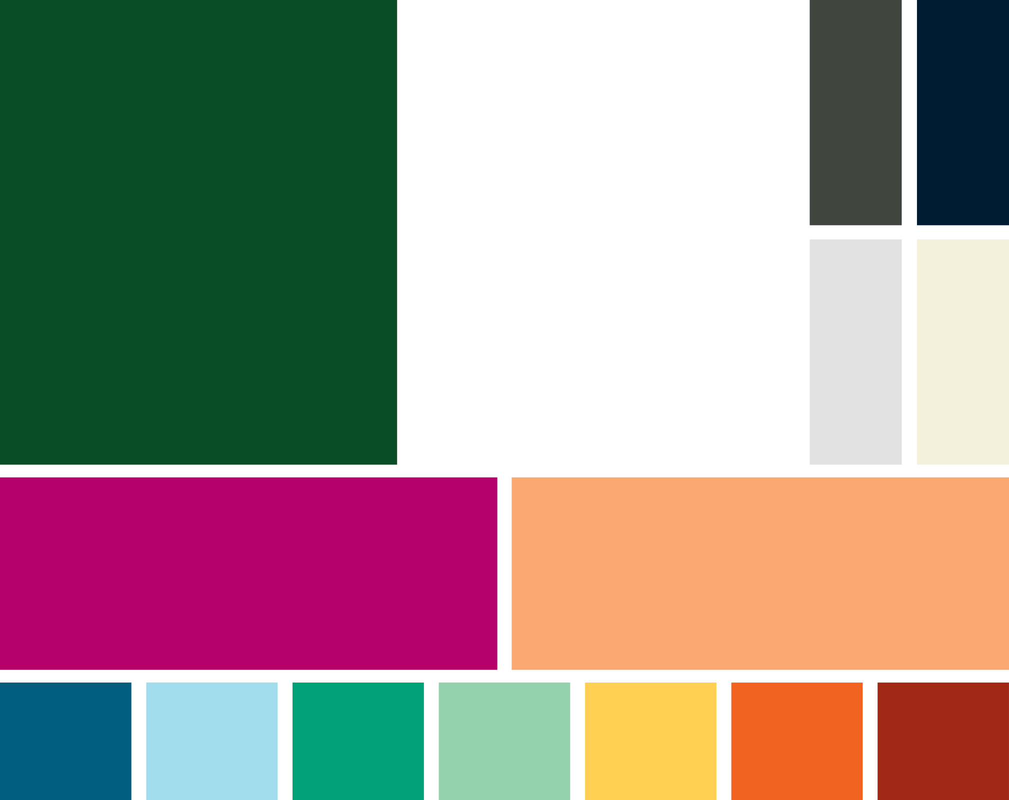 Primary accent colors: Magenta and Apricot