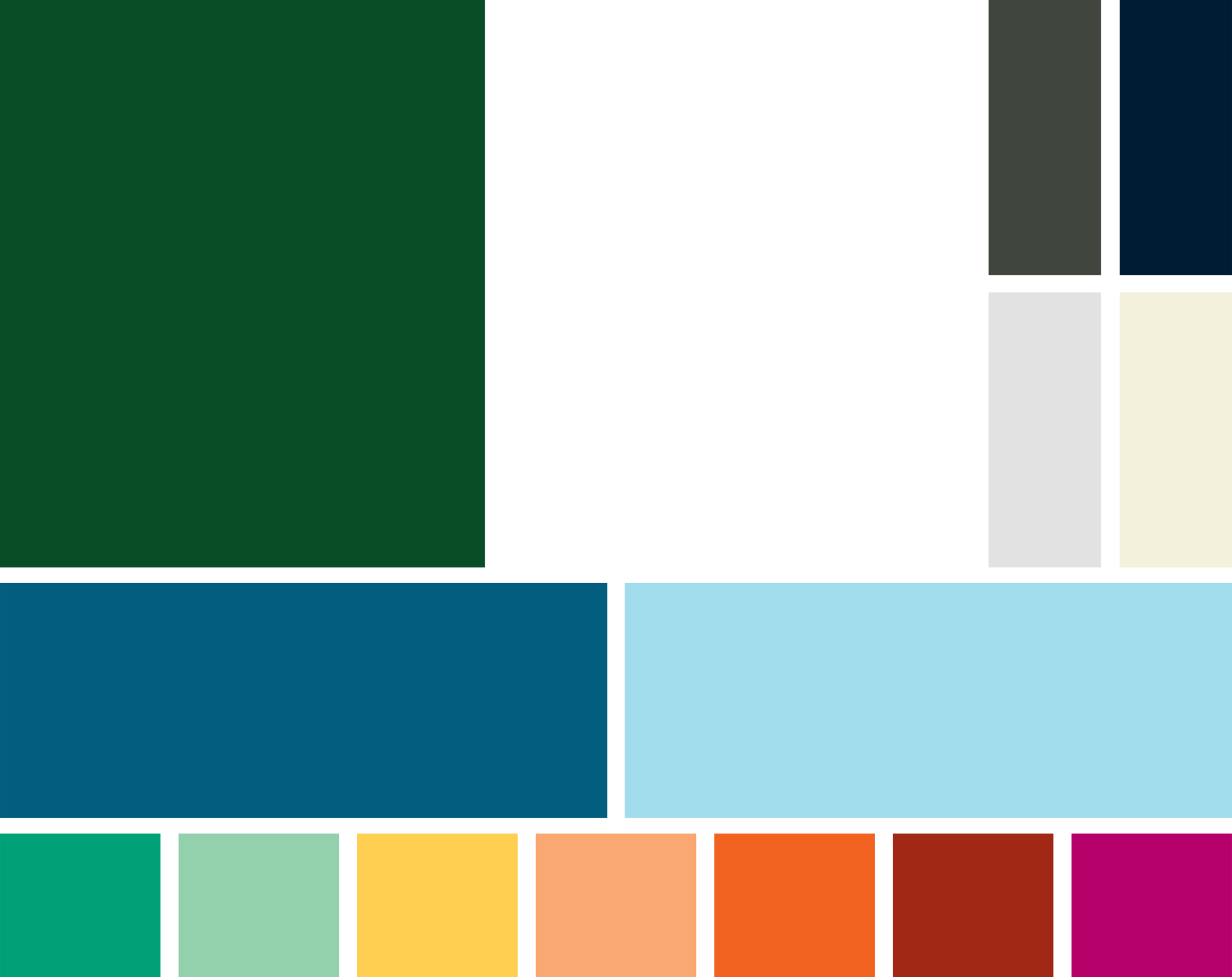 Primary accent colors: Medium Blue and Light Blue